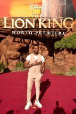"HOLLYWOOD, CALIFORNIA - JULY 09: Aubrey Joseph attends the World Premiere of Disney's ""THE LION KING"" at the Dolby Theatre on July 09, 2019 in Hollywood, California. (Photo by Alberto E. Rodriguez/Getty Images for Disney)"