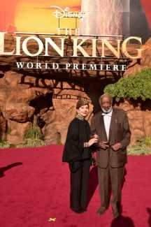 "HOLLYWOOD, CALIFORNIA - JULY 09: Jacqueline Avant (L) and Clarence Avant attend the World Premiere of Disney's ""THE LION KING"" at the Dolby Theatre on July 09, 2019 in Hollywood, California. (Photo by Alberto E. Rodriguez/Getty Images for Disney)"