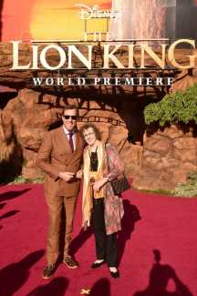 "HOLLYWOOD, CALIFORNIA - JULY 09: Rob Minkoff (L) and Irene Mecchi attend the World Premiere of Disney's ""THE LION KING"" at the Dolby Theatre on July 09, 2019 in Hollywood, California. (Photo by Alberto E. Rodriguez/Getty Images for Disney)"