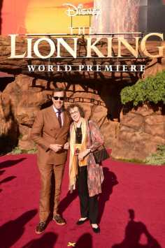 """HOLLYWOOD, CALIFORNIA - JULY 09: Rob Minkoff (L) and Irene Mecchi attend the World Premiere of Disney's """"THE LION KING"""" at the Dolby Theatre on July 09, 2019 in Hollywood, California. (Photo by Alberto E. Rodriguez/Getty Images for Disney)"""