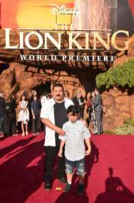 "HOLLYWOOD, CALIFORNIA - JULY 09: Guillermo Rodriguez (L) attends the World Premiere of Disney's ""THE LION KING"" at the Dolby Theatre on July 09, 2019 in Hollywood, California. (Photo by Alberto E. Rodriguez/Getty Images for Disney)"