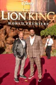 "HOLLYWOOD, CALIFORNIA - JULY 09: Cedric Yarbrough (R) attends the World Premiere of Disney's ""THE LION KING"" at the Dolby Theatre on July 09, 2019 in Hollywood, California. (Photo by Alberto E. Rodriguez/Getty Images for Disney)"
