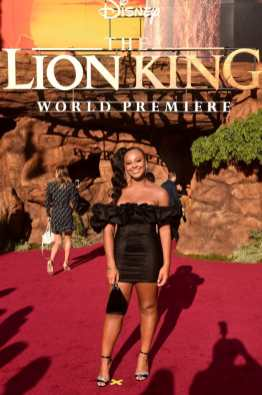 "HOLLYWOOD, CALIFORNIA - JULY 09: Nia Sioux attends the World Premiere of Disney's ""THE LION KING"" at the Dolby Theatre on July 09, 2019 in Hollywood, California. (Photo by Alberto E. Rodriguez/Getty Images for Disney)"