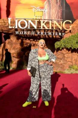 "HOLLYWOOD, CALIFORNIA - JULY 09: Jazzmyne Robbins attends the World Premiere of Disney's ""THE LION KING"" at the Dolby Theatre on July 09, 2019 in Hollywood, California. (Photo by Alberto E. Rodriguez/Getty Images for Disney)"