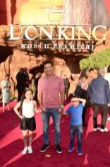 "HOLLYWOOD, CALIFORNIA - JULY 09: (L-R) Gia Francesca Lopez, Mario Lopez, and Dominic Lopez attend the World Premiere of Disney's ""THE LION KING"" at the Dolby Theatre on July 09, 2019 in Hollywood, California. (Photo by Alberto E. Rodriguez/Getty Images for Disney)"