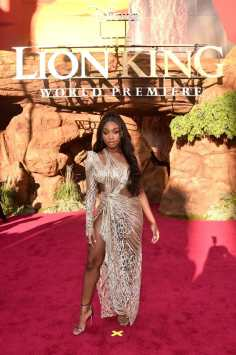 """HOLLYWOOD, CALIFORNIA - JULY 09: Normani attends the World Premiere of Disney's """"THE LION KING"""" at the Dolby Theatre on July 09, 2019 in Hollywood, California. (Photo by Alberto E. Rodriguez/Getty Images for Disney)"""