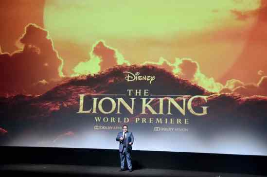 "HOLLYWOOD, CALIFORNIA - JULY 09: Director/producer Jon Favreau attends the World Premiere of Disney's ""THE LION KING"" at the Dolby Theatre on July 09, 2019 in Hollywood, California. (Photo by Alberto E. Rodriguez/Getty Images for Disney)"
