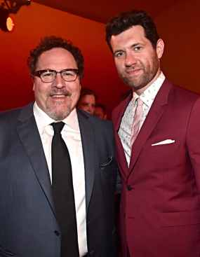 "HOLLYWOOD, CALIFORNIA - JULY 09: Director/producer Jon Favreau and Billy Eichner attend the World Premiere of Disney's ""THE LION KING"" at the Dolby Theatre on July 09, 2019 in Hollywood, California. (Photo by Alberto E. Rodriguez/Getty Images for Disney)"