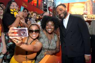 "HOLLYWOOD, CALIFORNIA - JULY 09: Chiwetel Ejiofor attends the World Premiere of Disney's ""THE LION KING"" at the Dolby Theatre on July 09, 2019 in Hollywood, California. (Photo by Charley Gallay/Getty Images for Disney)"