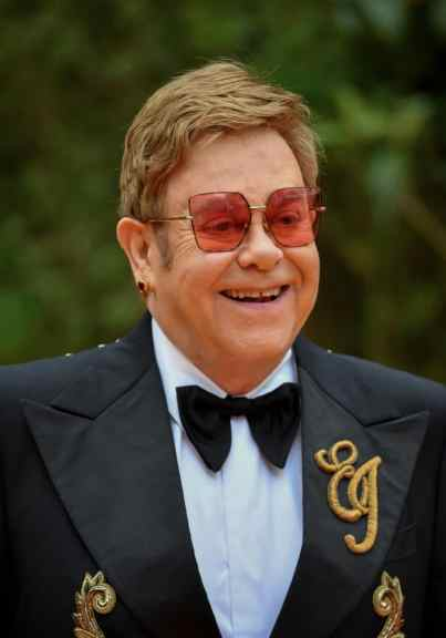 """LONDON, ENGLAND - JULY 14: Sir Elton John attends the European Premiere of Disney's """"The Lion King"""" at Odeon Luxe Leicester Square on July 14, 2019 in London, England. (Photo by Gareth Cattermole/Getty Images for Disney)"""