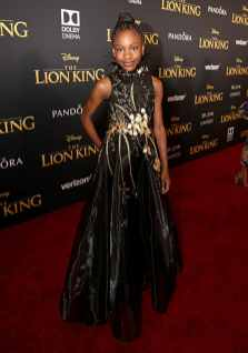 "HOLLYWOOD, CALIFORNIA - JULY 09: Demi Singleton attends the World Premiere of Disney's ""THE LION KING"" at the Dolby Theatre on July 09, 2019 in Hollywood, California. (Photo by Jesse Grant/Getty Images for Disney)"