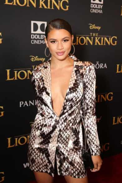 "HOLLYWOOD, CALIFORNIA - JULY 09: Denise Rodriguez attends the World Premiere of Disney's ""THE LION KING"" at the Dolby Theatre on July 09, 2019 in Hollywood, California. (Photo by Jesse Grant/Getty Images for Disney)"