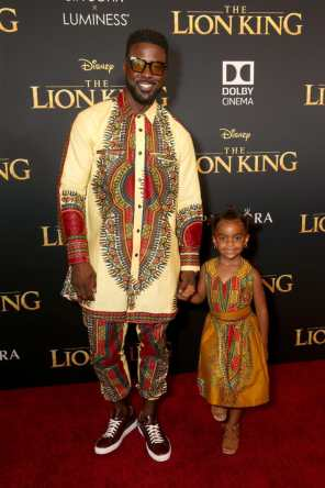 "HOLLYWOOD, CALIFORNIA - JULY 09: Lance Gross (L) and Berkeley Brynn Gross attend the World Premiere of Disney's ""THE LION KING"" at the Dolby Theatre on July 09, 2019 in Hollywood, California. (Photo by Jesse Grant/Getty Images for Disney)"