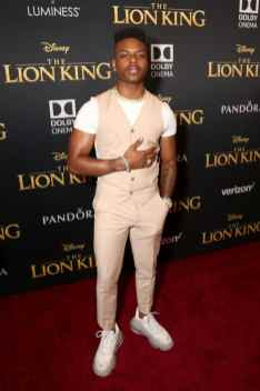 """HOLLYWOOD, CALIFORNIA - JULY 09: Aubrey Joseph attends the World Premiere of Disney's """"THE LION KING"""" at the Dolby Theatre on July 09, 2019 in Hollywood, California. (Photo by Jesse Grant/Getty Images for Disney)"""