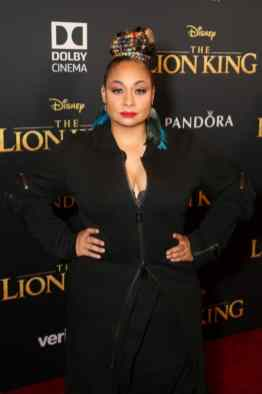 "HOLLYWOOD, CALIFORNIA - JULY 09: Raven-Symone attends the World Premiere of Disney's ""THE LION KING"" at the Dolby Theatre on July 09, 2019 in Hollywood, California. (Photo by Jesse Grant/Getty Images for Disney)"
