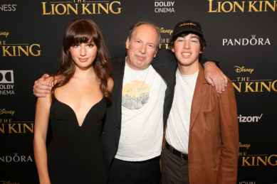 "HOLLYWOOD, CALIFORNIA - JULY 09: Hans Zimmer (C) attends the World Premiere of Disney's ""THE LION KING"" at the Dolby Theatre on July 09, 2019 in Hollywood, California. (Photo by Jesse Grant/Getty Images for Disney)"
