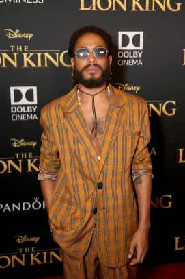 "HOLLYWOOD, CALIFORNIA - JULY 09: Icaro Silva attends the World Premiere of Disney's ""THE LION KING"" at the Dolby Theatre on July 09, 2019 in Hollywood, California. (Photo by Jesse Grant/Getty Images for Disney)"