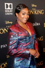 "HOLLYWOOD, CALIFORNIA - JULY 09: Tiffany Haddish attends the World Premiere of Disney's ""THE LION KING"" at the Dolby Theatre on July 09, 2019 in Hollywood, California. (Photo by Jesse Grant/Getty Images for Disney)"