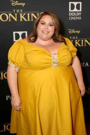 "HOLLYWOOD, CALIFORNIA - JULY 09: Chrissy Metz attends the World Premiere of Disney's ""THE LION KING"" at the Dolby Theatre on July 09, 2019 in Hollywood, California. (Photo by Jesse Grant/Getty Images for Disney)"