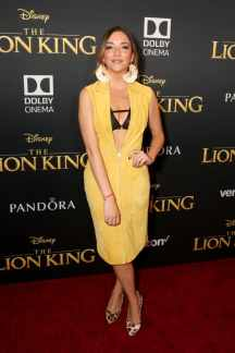 "HOLLYWOOD, CALIFORNIA - JULY 09: Regina Blandon attends the World Premiere of Disney's ""THE LION KING"" at the Dolby Theatre on July 09, 2019 in Hollywood, California. (Photo by Jesse Grant/Getty Images for Disney)"