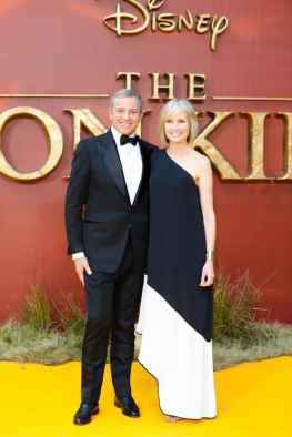 Robert A. Iger (L) and Willow Bay attend the European Premiere of DisneyÕs ÒThe Lion KingÓ at the Odeon Leicester Square on 14th July 2019 in London, UK