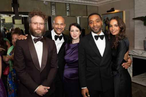 Seth Rogen, Keegan-Michael Key, Alisa Key, Chiwetel Ejiofor and Frances Aaternir attend the European Premiere of DisneyÕs ÒThe Lion KingÓ at the Odeon Leicester Square on 14th July 2019 in London, UK