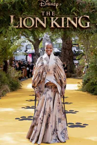 Florence Kasumba attends the European Premiere of DisneyÕs ÒThe Lion KingÓ at the Odeon Leicester Square on 14th July 2019 in London, UK