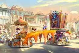 "Set to debut in spring 2020 at Disneyland Park in California, the new Magic Happens parade will come to life with an energetic musical score and a new song produced in partnership with singer-songwriter Todrick Hall. The parade will feature stunning floats, beautiful costumes, and beloved Disney characters from ""Moana,"" ""Coco,"" ""Sleeping Beauty,"" and more – all led by Mickey Mouse and his pals. (Disney)"