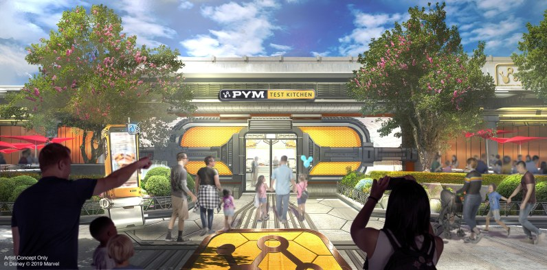 The Avengers Campus will open in 2020 at Disney California Adventure at Disneyland Resort, including Pym Test Kitchen, where Pym Technologies is using the latest innovations to grow and shrink food. (Disney/Marvel)