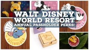 Walt Disney World Resort Annual Passholder Perks