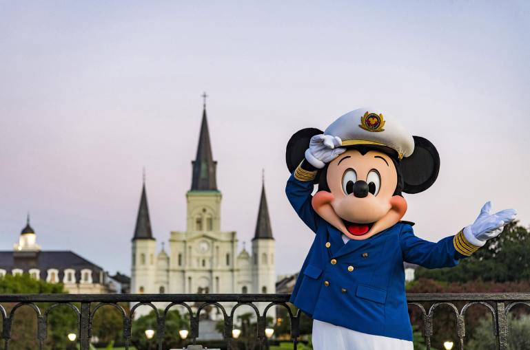"""When Disney Cruise Line embarks on Caribbean and Bahamian cruises from New Orleans, guests can venture into the Crescent City to savor the distinct flavors of famous New Orleans cuisine, visit family-friendly museums and parks, and revel in the sweet melodies of world-renowned jazz music. Travelers will delight in the Southern charm of this new home port, and Disney fans will find magic around every corner as they recognize the iconic sights and sounds that inspired the beloved animated film """"The Princess and the Frog."""" (Matt Stroshane, photographer)"""