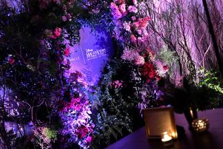 NEW YORK, NEW YORK - OCTOBER 16: A view of atmosphere upon entering the Olivia von Halle x Disney Maleficent: Mistress of Evil event at The High Line Hotel on October 16, 2019 in New York City. (Photo by Craig Barritt/Getty Images for Disney)