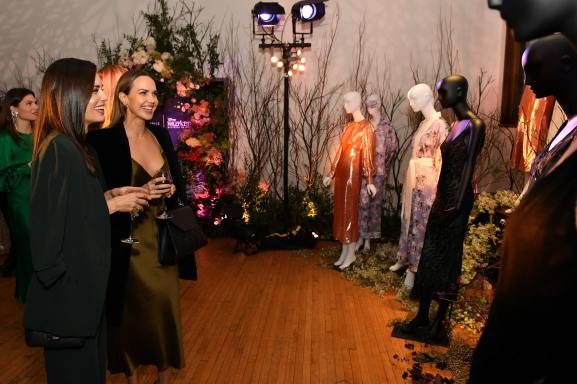 NEW YORK, NEW YORK - OCTOBER 16: (L-R) Torrey DeVitto and Arielle Kebbel, wearing Olivia von Halle, attend the Olivia von Halle x Disney Maleficent: Mistress of Evil event at The High Line Hotel on October 16, 2019 in New York City. (Photo by Craig Barritt/Getty Images for Disney)