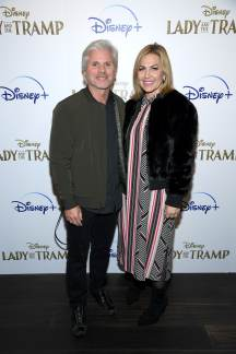 "NEW YORK, NEW YORK - OCTOBER 22: Brigham Taylor and Michelle Taylor attend as Cinema Society hosts a special screening of Disney+'s ""Lady And The Tramp"" at iPic Theater on October 22, 2019 in New York City. (Photo by Dimitrios Kambouris/Getty Images for Disney+)"
