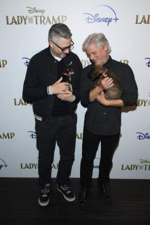 "NEW YORK, NEW YORK - OCTOBER 22: Charlie Bean and Brigham Taylor attend as Cinema Society hosts a special screening of Disney+'s ""Lady And The Tramp"" at iPic Theater on October 22, 2019 in New York City. (Photo by Dimitrios Kambouris/Getty Images for Disney+)"
