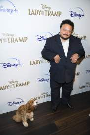 "NEW YORK, NEW YORK - OCTOBER 22: Rose and Adrian Martinez attend as Cinema Society hosts a special screening of Disney+'s ""Lady And The Tramp"" at iPic Theater on October 22, 2019 in New York City. (Photo by Dimitrios Kambouris/Getty Images for Disney+)"