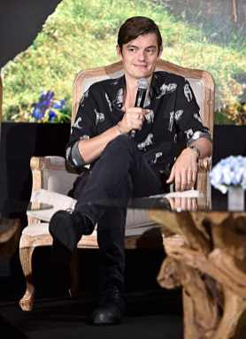 "BEVERLY HILLS, CALIFORNIA - SEPTEMBER 30: Actor Sam Riley participates in the global press conference for ""Disney's Maleficent: Mistress of Evil"" on September 30, 2019 in Beverly Hills, California. (Photo by Alberto E. Rodriguez/Getty Images for Disney)"