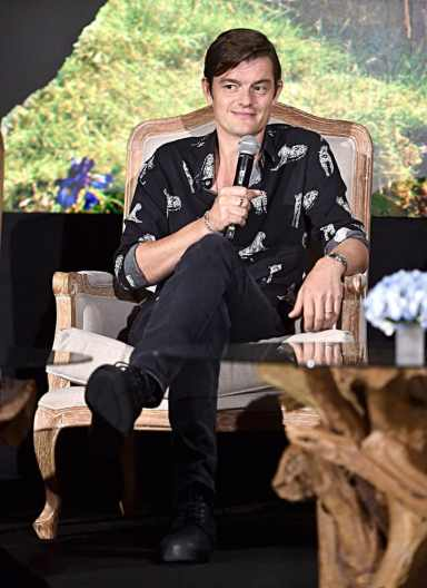 """BEVERLY HILLS, CALIFORNIA - SEPTEMBER 30: Actor Sam Riley participates in the global press conference for """"Disney's Maleficent: Mistress of Evil"""" on September 30, 2019 in Beverly Hills, California. (Photo by Alberto E. Rodriguez/Getty Images for Disney)"""