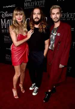 "HOLLYWOOD, CALIFORNIA - SEPTEMBER 30: (L-R) Heidi Klum, Tom Kaulitz, and Bill Kaulitz attend the World Premiere of Disney's ""Maleficent: Mistress of Evil"" at the El Capitan Theatre on September 30, 2019 in Hollywood, California. (Photo by Alberto E. Rodriguez/Getty Images for Disney)"