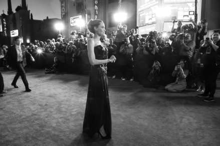"""Angelina Jolie poses on the carpet at the World Premiere of Disney's """"Maleficent: Mistress of Evil"""" at the El Capitan Theatre in Hollywood, CA on September 30, 2019 .(photo: Alex J. Berliner/ABImages)"""