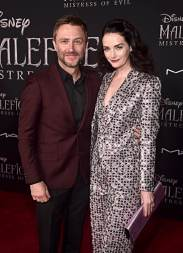 """HOLLYWOOD, CALIFORNIA - SEPTEMBER 30: (L-R) Chris Hardwick and Lydia Hearst attend the World Premiere of Disney's """"Maleficent: Mistress of Evil"""" at the El Capitan Theatre on September 30, 2019 in Hollywood, California. (Photo by Alberto E. Rodriguez/Getty Images for Disney)"""