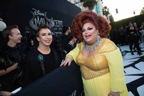 """Ginger Minj attends the World Premiere of Disney's """"Maleficent: Mistress of Evil"""" at the El Capitan Theatre in Hollywood, CA on September 30, 2019 .(photo: Alex J. Berliner/ABImages)"""