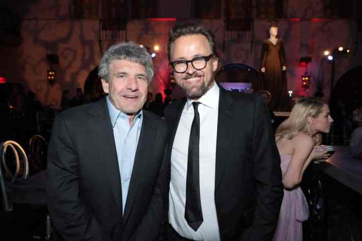 """Alan Horn and Director Joachim Ronning attend the World Premiere of Disney's """"Maleficent: Mistress of Evil"""" after party at The Hollywood Roosevelt in Hollywood, CA on September 30, 2019 (photo: Alex J. Berliner/ABImages)"""