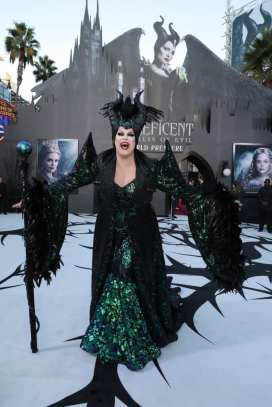 """Nina West attends the World Premiere of Disney's """"Maleficent: Mistress of Evil"""" at the El Capitan Theatre in Hollywood, CA on September 30, 2019 (photo: Alex J. Berliner/ABImages)"""
