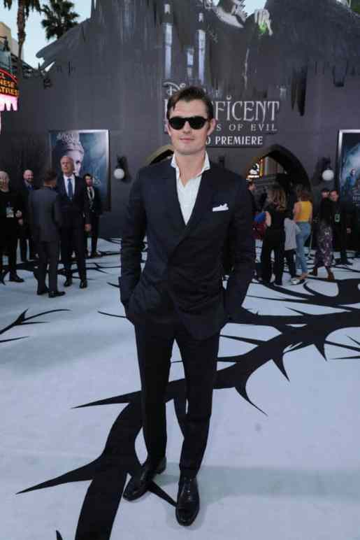 """Sam Riley attends the World Premiere of Disney's """"Maleficent: Mistress of Evil"""" at the El Capitan Theatre in Hollywood, CA on September 30, 2019 (photo: Alex J. Berliner/ABImages)"""