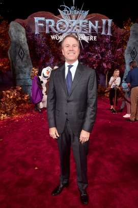 "HOLLYWOOD, CALIFORNIA - NOVEMBER 07: President of Walt Disney Animation Studios Clark Spencer attends the world premiere of Disney's ""Frozen 2"" at Hollywood's Dolby Theatre on Thursday, November 7, 2019 in Hollywood, California. (Photo by Alberto E. Rodriguez/Getty Images for Disney)"