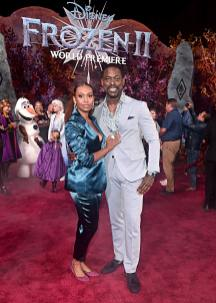 "HOLLYWOOD, CALIFORNIA - NOVEMBER 07: (L-R) Ryan Michelle Bathe and Actor Sterling K. Brown attend the world premiere of Disney's ""Frozen 2"" at Hollywood's Dolby Theatre on Thursday, November 7, 2019 in Hollywood, California. (Photo by Alberto E. Rodriguez/Getty Images for Disney)"