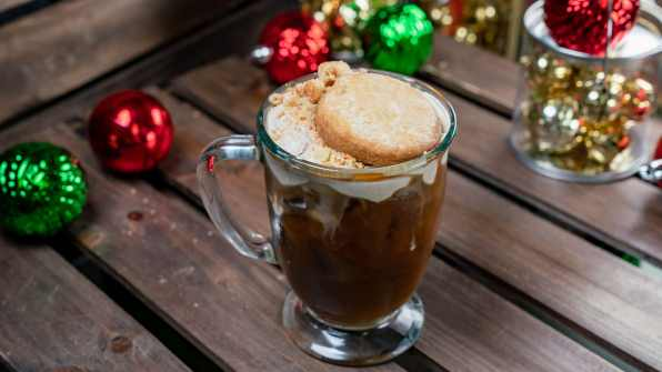 The Snickerdoodle Cold Brew is part of the limited-time holiday treats at The Disneyland Resort. Available November 8 - January 6, this treat can be be purchased at Hungry Bear Restaurant in Disneyland Resort. (Disneyland Resort)