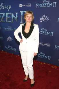 "HOLLYWOOD, CALIFORNIA - NOVEMBER 07: Actor Martha Plimpton attends the world premiere of Disney's ""Frozen 2"" at Hollywood's Dolby Theatre on Thursday, November 7, 2019 in Hollywood, California. (Photo by Jesse Grant/Getty Images for Disney)"