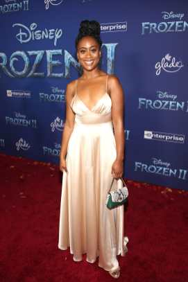 "HOLLYWOOD, CALIFORNIA - NOVEMBER 07: Zuri Adele attends the world premiere of Disney's ""Frozen 2"" at Hollywood's Dolby Theatre on Thursday, November 7, 2019 in Hollywood, California. (Photo by Jesse Grant/Getty Images for Disney)"